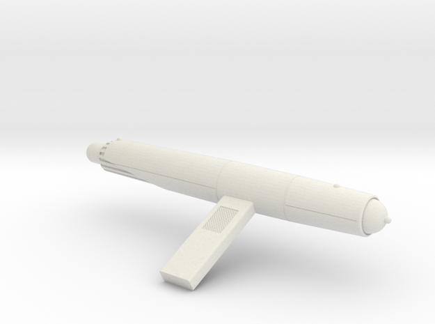 1/1400 Comet Left Nacelle in White Natural Versatile Plastic
