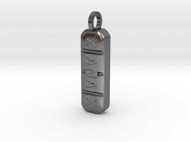 xanax 2mg pendant in Polished Nickel Steel