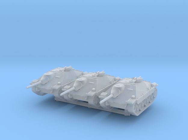 Jagdpanzer 38(t) late (x3) 1/220 in Smooth Fine Detail Plastic