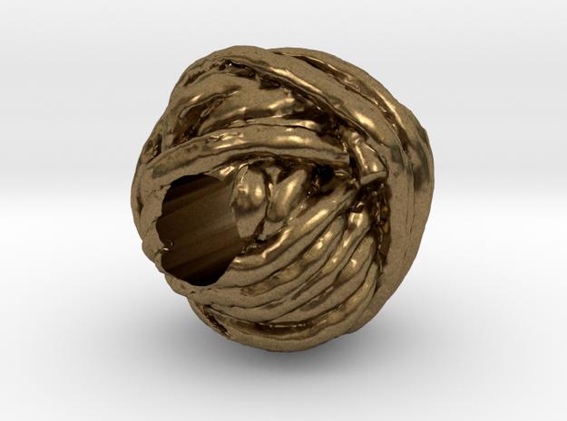 Yarn European Charm Bracelet Bead in Raw Bronze