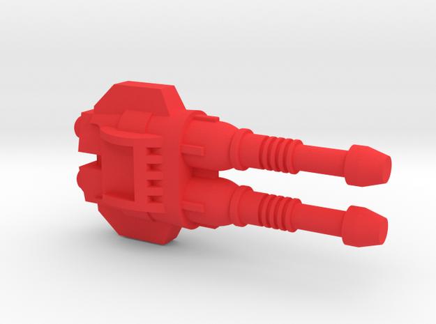 Starcom - H.A.R.V.7 - Side Gun in Red Processed Versatile Plastic