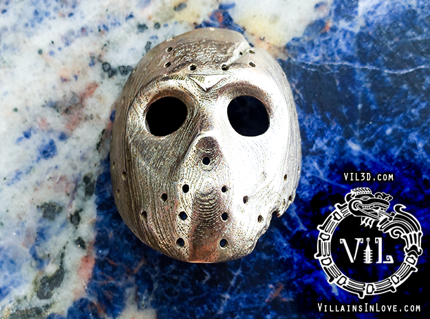 Part X Pendant ⛧ VIL ⛧ in Polished Bronzed-Silver Steel: Small