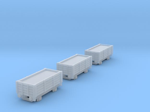 T-gauge 3 trucks - Custom Wheels, see description in Smooth Fine Detail Plastic