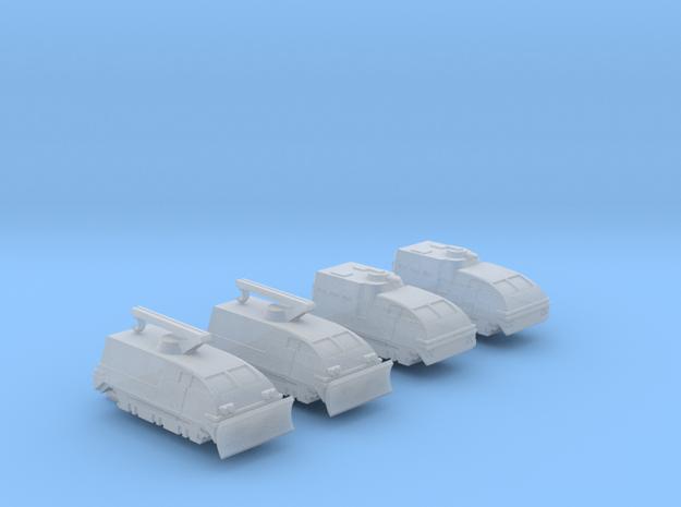 285 Scale Klingon Kral-Es and Kral-Cs MGL in Smooth Fine Detail Plastic