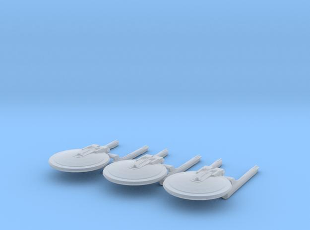 1/10000 Hutzel E Heavy Cruiser - 3 ships pack in Smooth Fine Detail Plastic