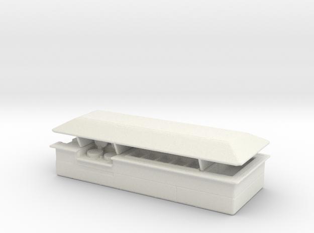 Food Counter (Isle) /64 in White Natural Versatile Plastic