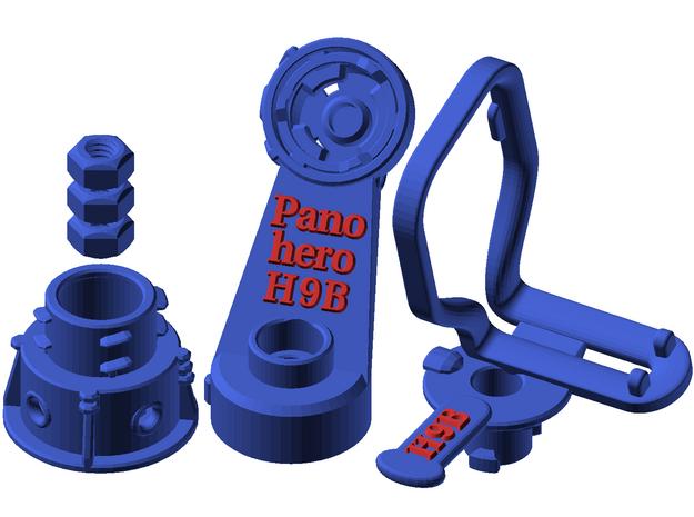 Panohero-H9B for Hero 9 in Blue Processed Versatile Plastic