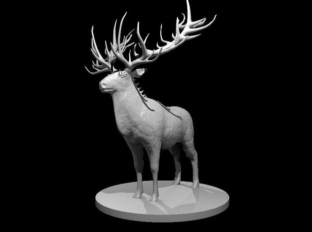 Dire Reindeer in White Natural Versatile Plastic