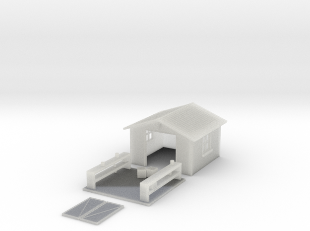 N-Scale Backyard Shed (Revised) 3d printed