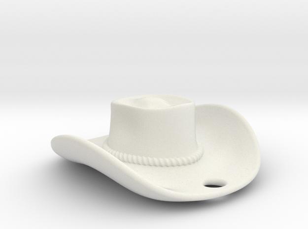 cowboy hat 2010081918 in White Natural Versatile Plastic