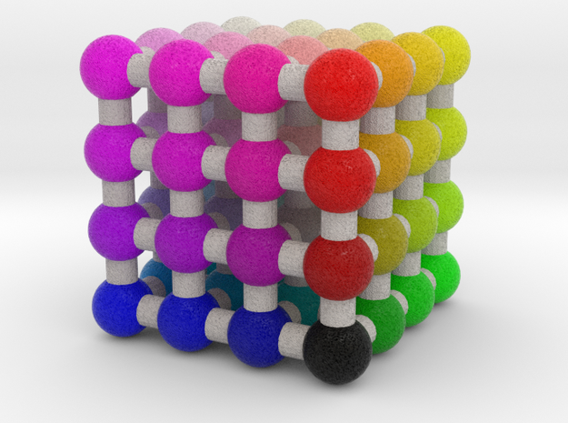 Hickethier's cube in Natural Full Color Sandstone