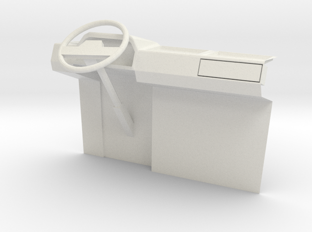 1:14 Suzuki Carry Mini Van L H D dashboard in White Natural Versatile Plastic