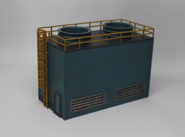 N Scale Large Chiller Part 1 (Walls) in Gray PA12