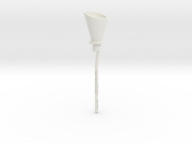 Transmission funnel in White Natural Versatile Plastic