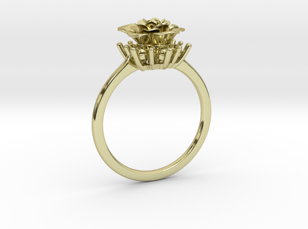 Flower Ring 64 (Contact to Add Stone) in 18K Yellow Gold