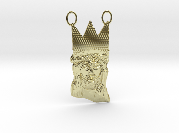 The King Jesus Christ (Contact for Customization) in 18K Yellow Gold