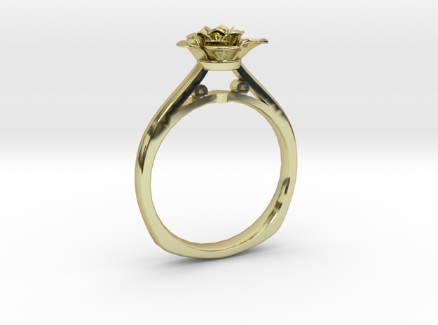 Flower Ring 40 (Contact to Add Stones) in 18K Yellow Gold