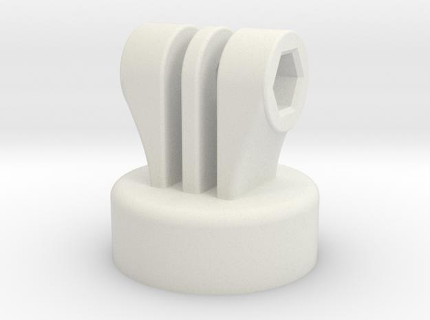 Bottle Adapter for GoPro in White Natural Versatile Plastic
