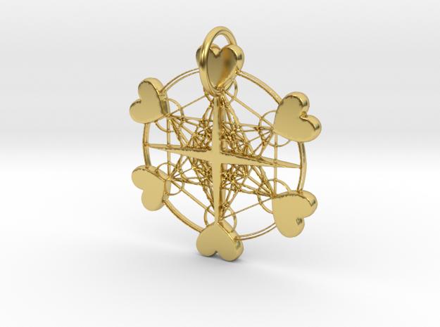 One Light Pendant in Polished Brass: Medium