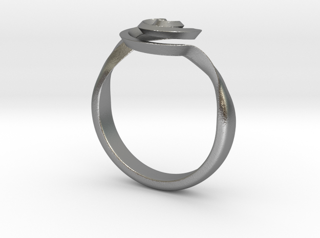 SpiralRing in Natural Silver