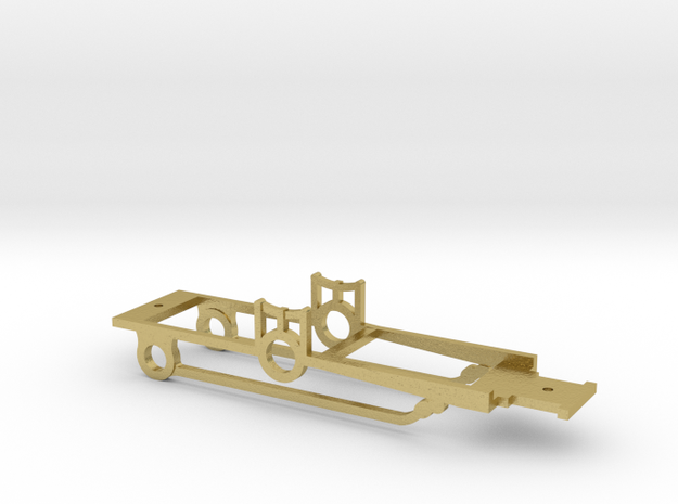 "HO ""Brookline"" 4-2-2 Chassis  in Natural Brass"