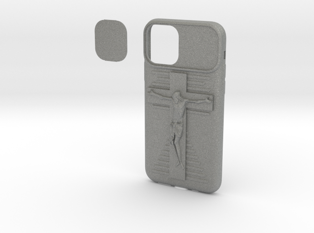 IPhone 11 Pro Jesus on Cross Cover in Gray PA12