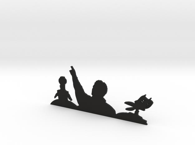 MST3K Sillhouette in Black Natural Versatile Plastic