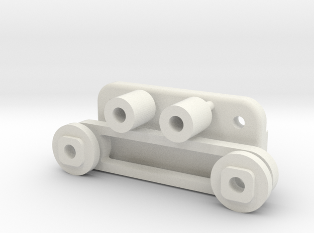 Tamiya FF01 Carbon Rear Top Deck Parts in White Natural Versatile Plastic