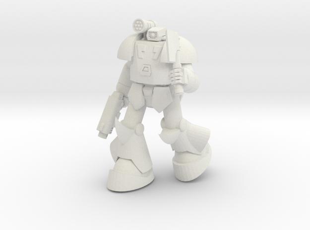 SAN-X9 BuruBuru (Pose C) in White Natural Versatile Plastic