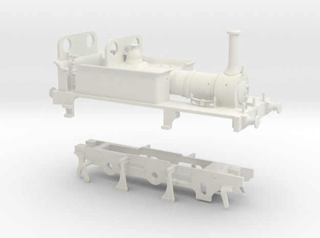 OO Scale LBSCR 'Kemptown' (Plain Cradle) in White Natural Versatile Plastic