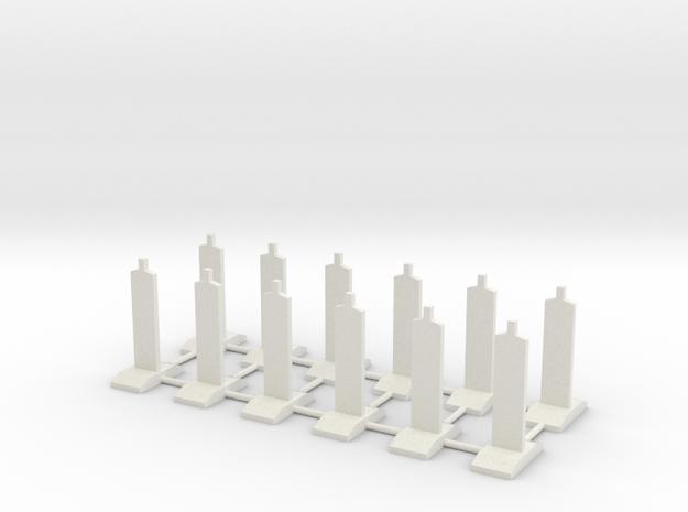 Geleidebakens    HO in White Natural Versatile Plastic