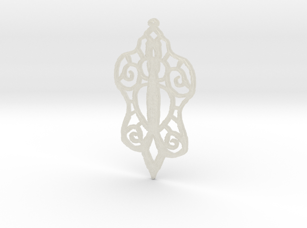 :Baby Lace: Pendant 3d printed