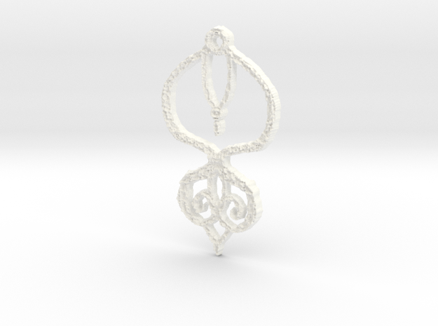 :Baby Lace II: Pendant in White Strong & Flexible Polished