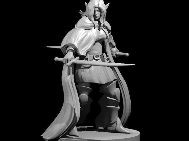 Female Elven Bladesinger 2 in Smooth Fine Detail Plastic