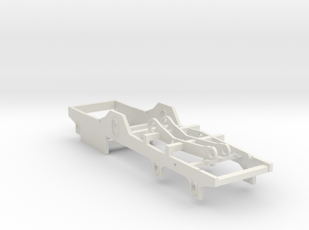 GWR Broad Gauge Rover chassis in White Natural Versatile Plastic