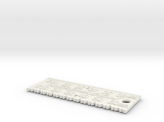 MicroMagic tuning scale in White Natural Versatile Plastic