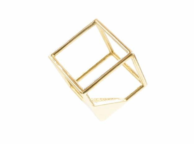 Cube Pendant in Polished Brass