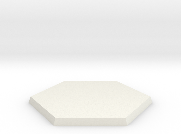 50mm Hex Base in White Natural Versatile Plastic