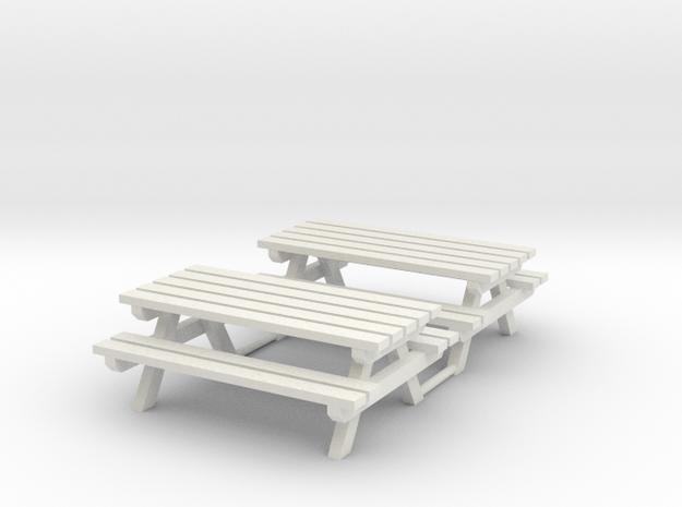 Picknick bank + tafel     HO in White Natural Versatile Plastic