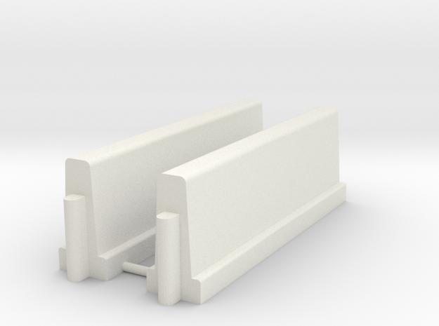 Betonnen barrier         HO in White Natural Versatile Plastic