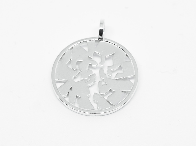 Pendant Icefloe in Polished Silver