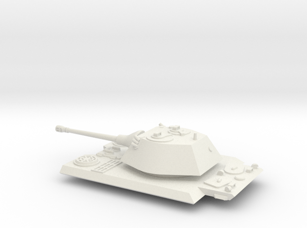 1/72 VK 16.02 Hull Deck & Turret in White Natural Versatile Plastic