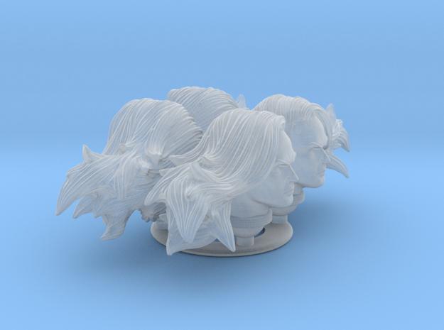 longhairmalehead x4  in Smooth Fine Detail Plastic