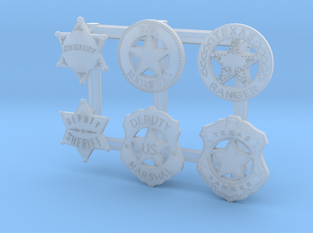 1:6  WESTERN BADGES COLLECTION in Smooth Fine Detail Plastic
