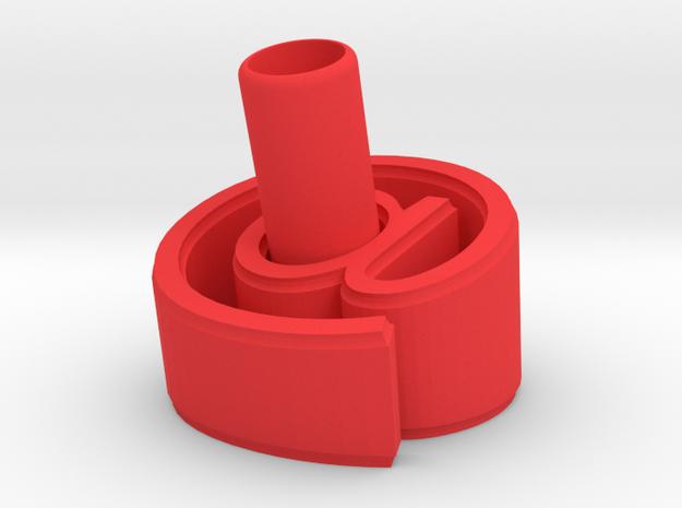 At Pen Holder (L) in Red Processed Versatile Plastic