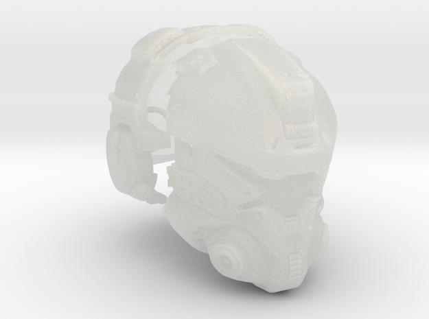 1:6 Scale Sci-Fi Pilot Helmet FUD in Smooth Fine Detail Plastic
