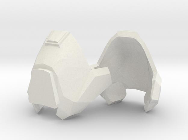 1:6 knee armor 1 pair revised scale in White Natural Versatile Plastic