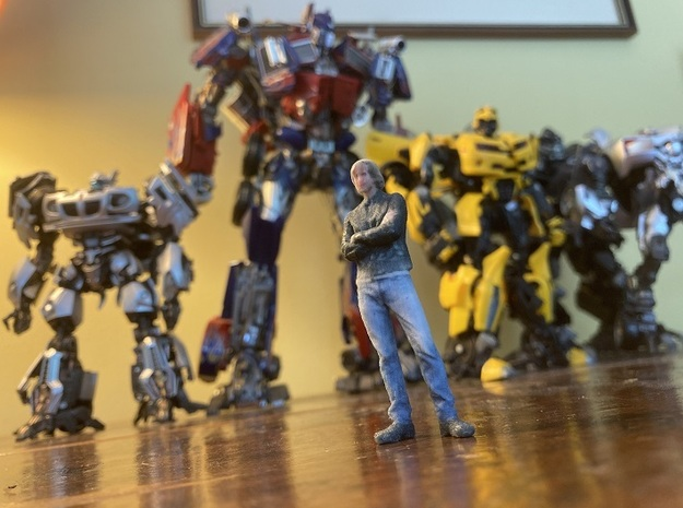 Michael Bay miniature (Full colour) in Natural Full Color Sandstone