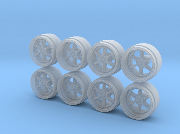 446 9-0 Hot Wheels Rims in Smooth Fine Detail Plastic