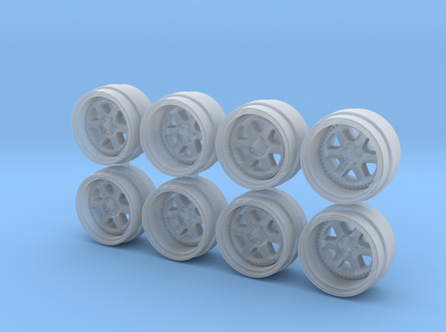 Meister L1 8-0 Hot Wheels Rims in Smooth Fine Detail Plastic